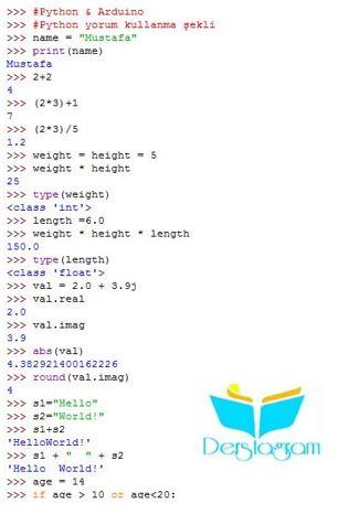 arduino ile python programlama